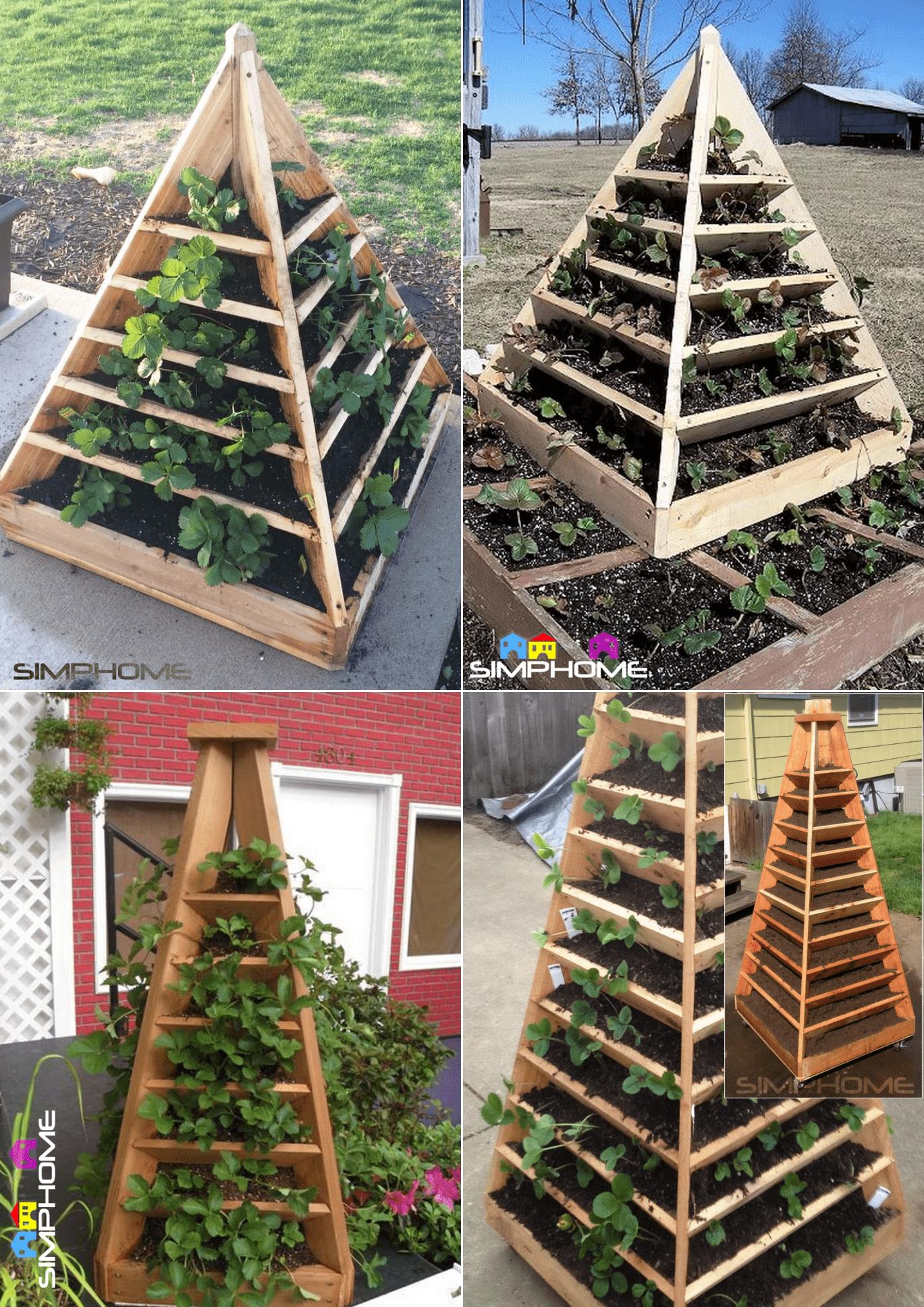 3.Pyramid Planter Projects via simphome.com