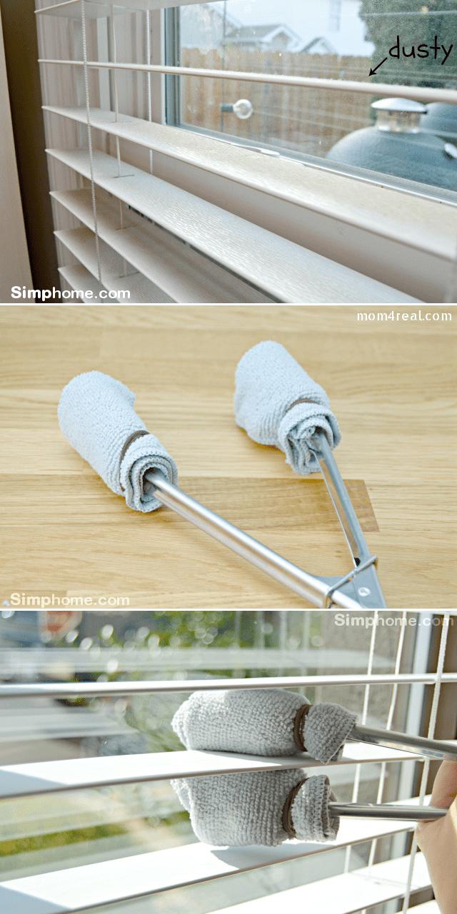 3.Smart Way to Clean Window Blinds via Simphome.com