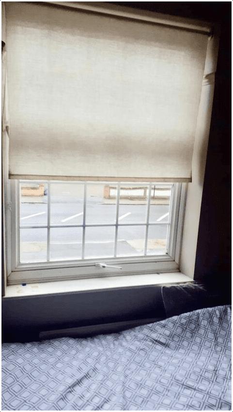 4.Art on Window Blind via Simphome.com before