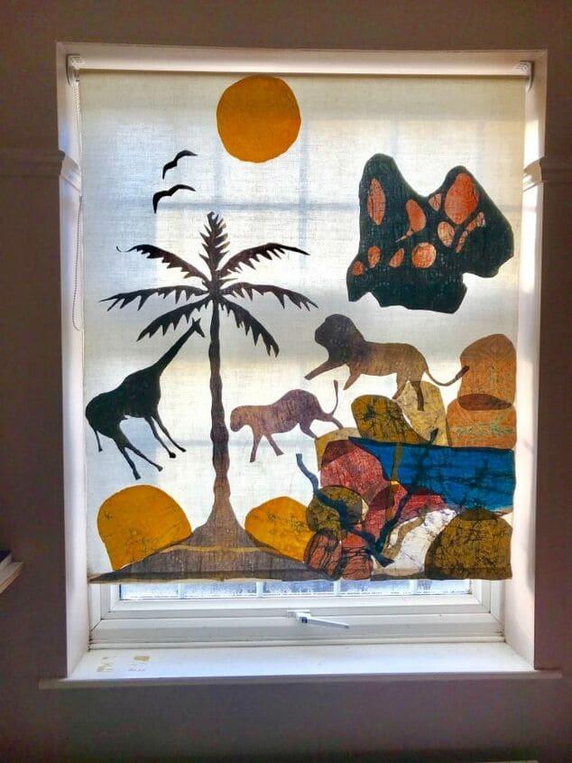 4.Art on Window BlindAfter