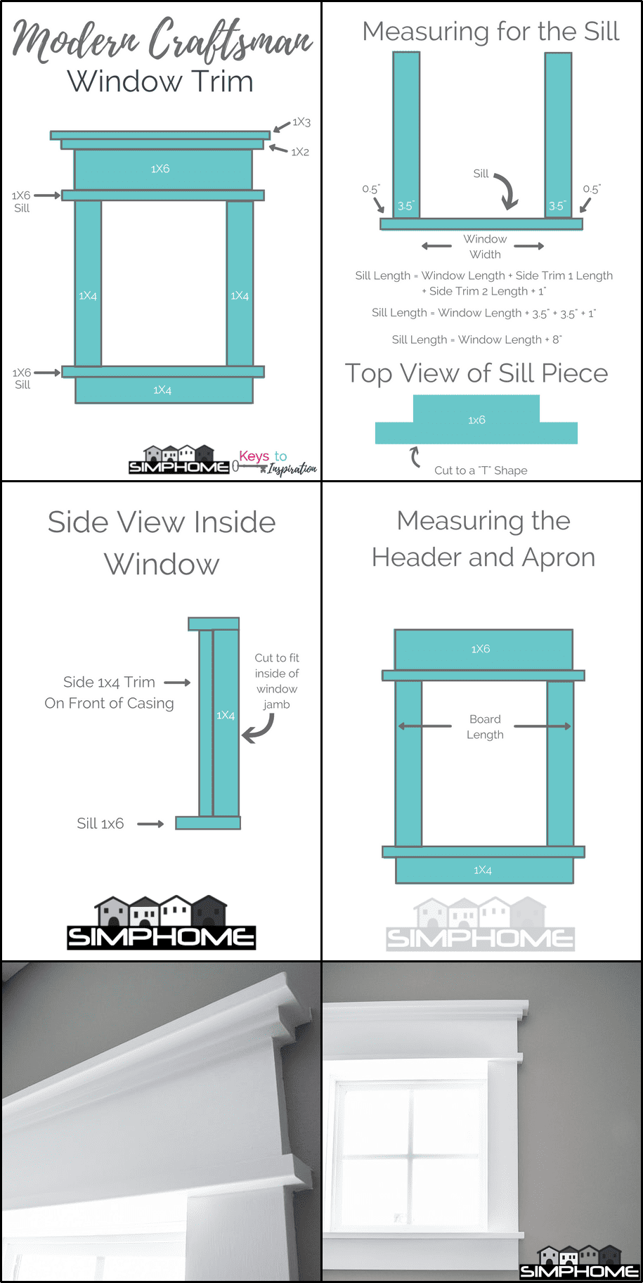 4.DIY Modern Window Trim via Simphome.com