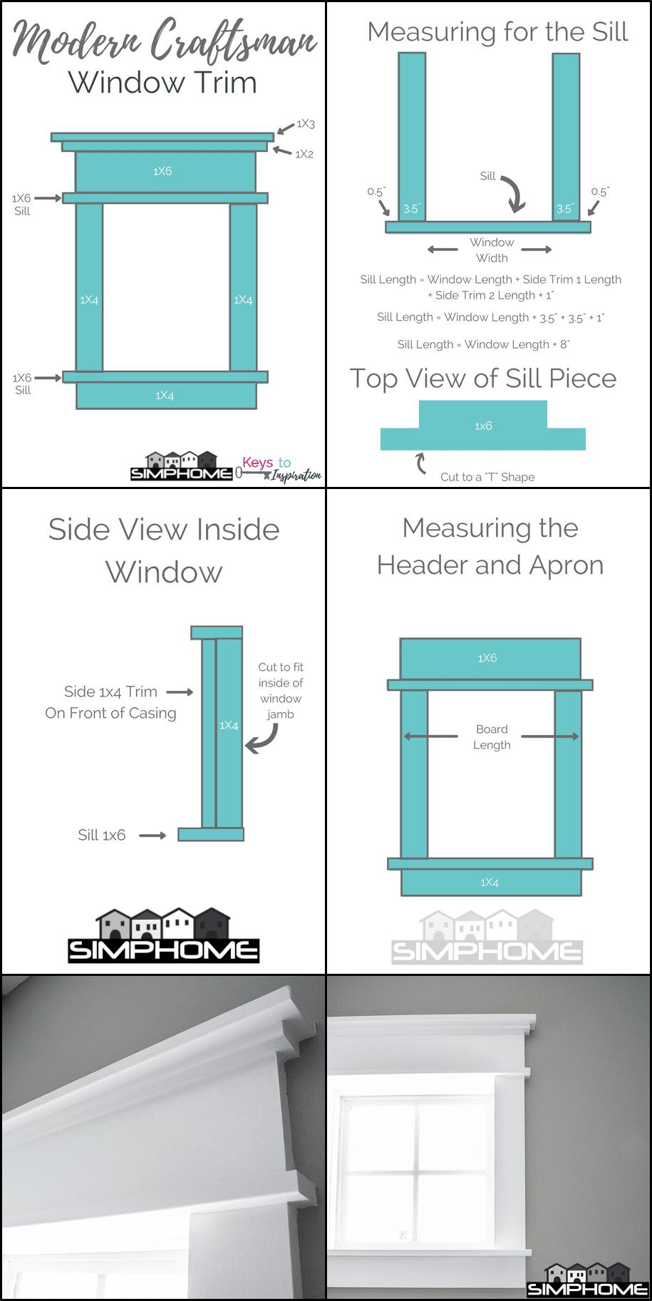 4.DIY Modern Window Trim via Simphome.com