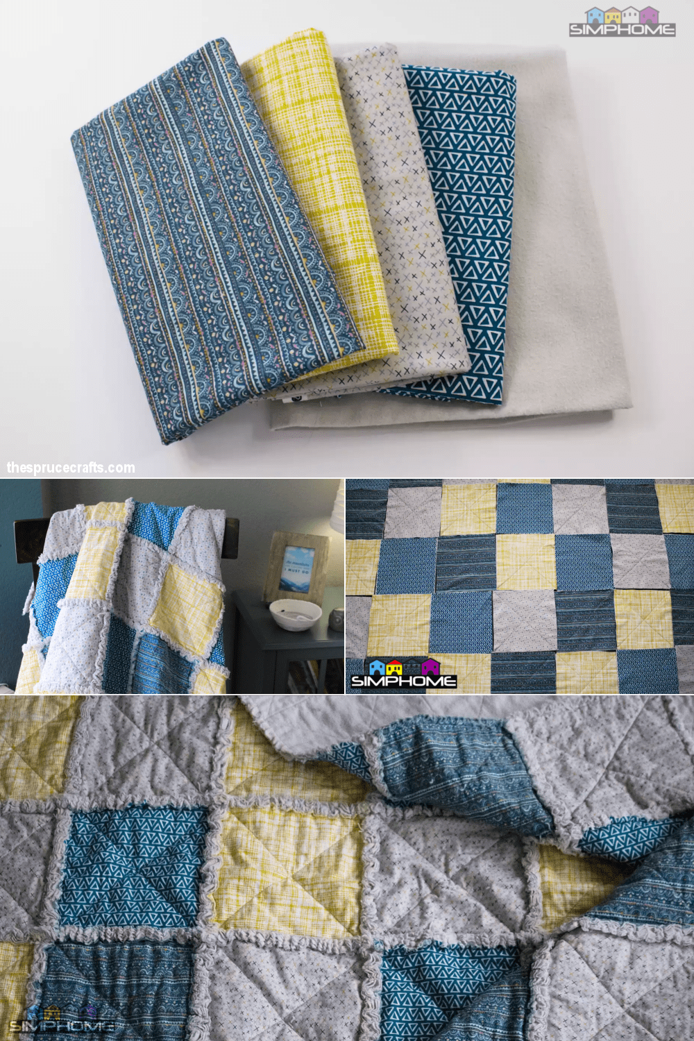 4.Patchwork Styling comforter project via simphome.com