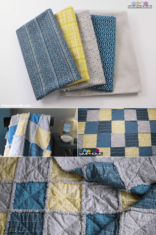 4.Patchwork Styling comforter project via simphome.com