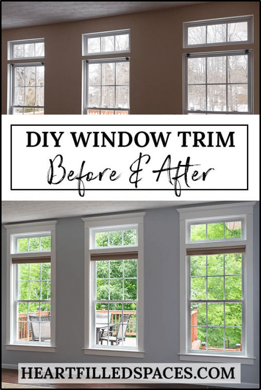 5.DIY Window Trim via Simphome.com
