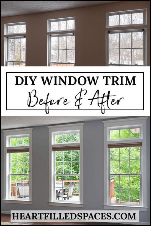 5.DIY Window Trim via Simphome.com