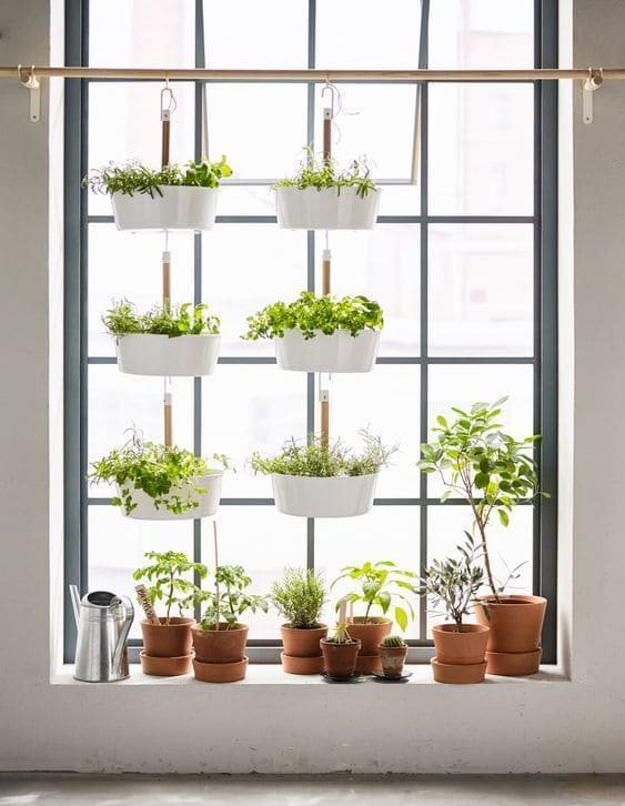 5.Make the Most of the Awkward Space Looking Window via Simphome.com