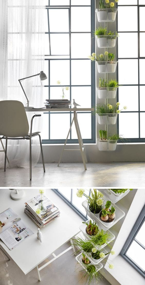 5.Make the Most of the Awkward Space from IKEA via Simphome.com