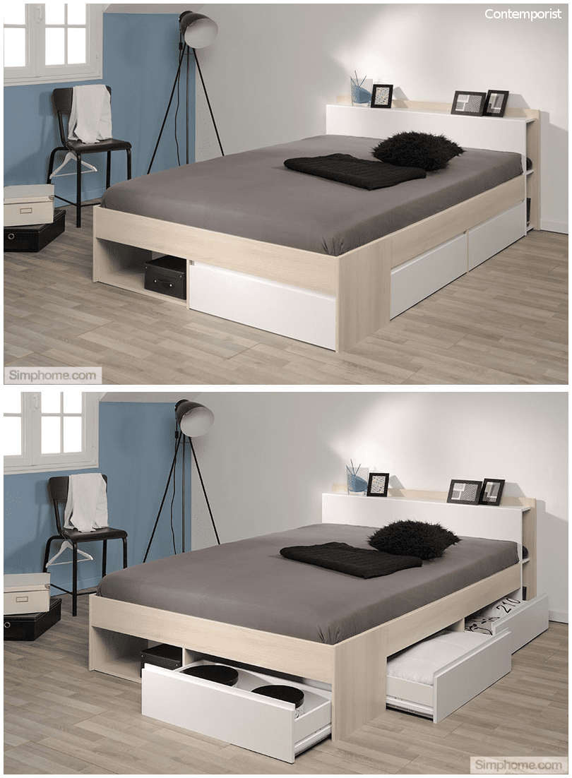 6.Bed with Lots of Storage Space via Simphome.com
