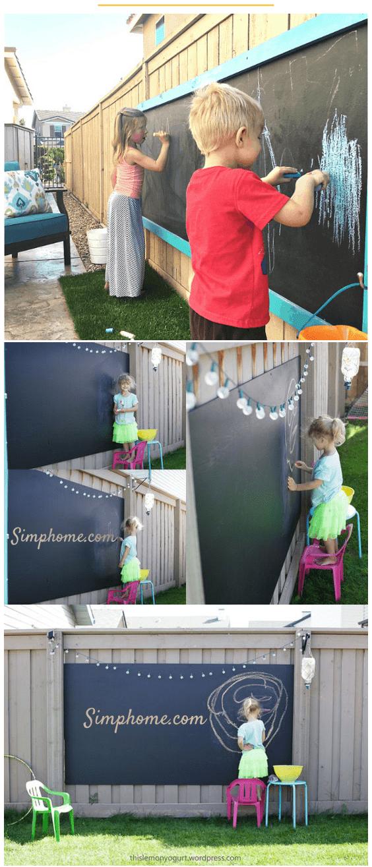 6.Giant Outdoor Chalkboard via Simphome.com