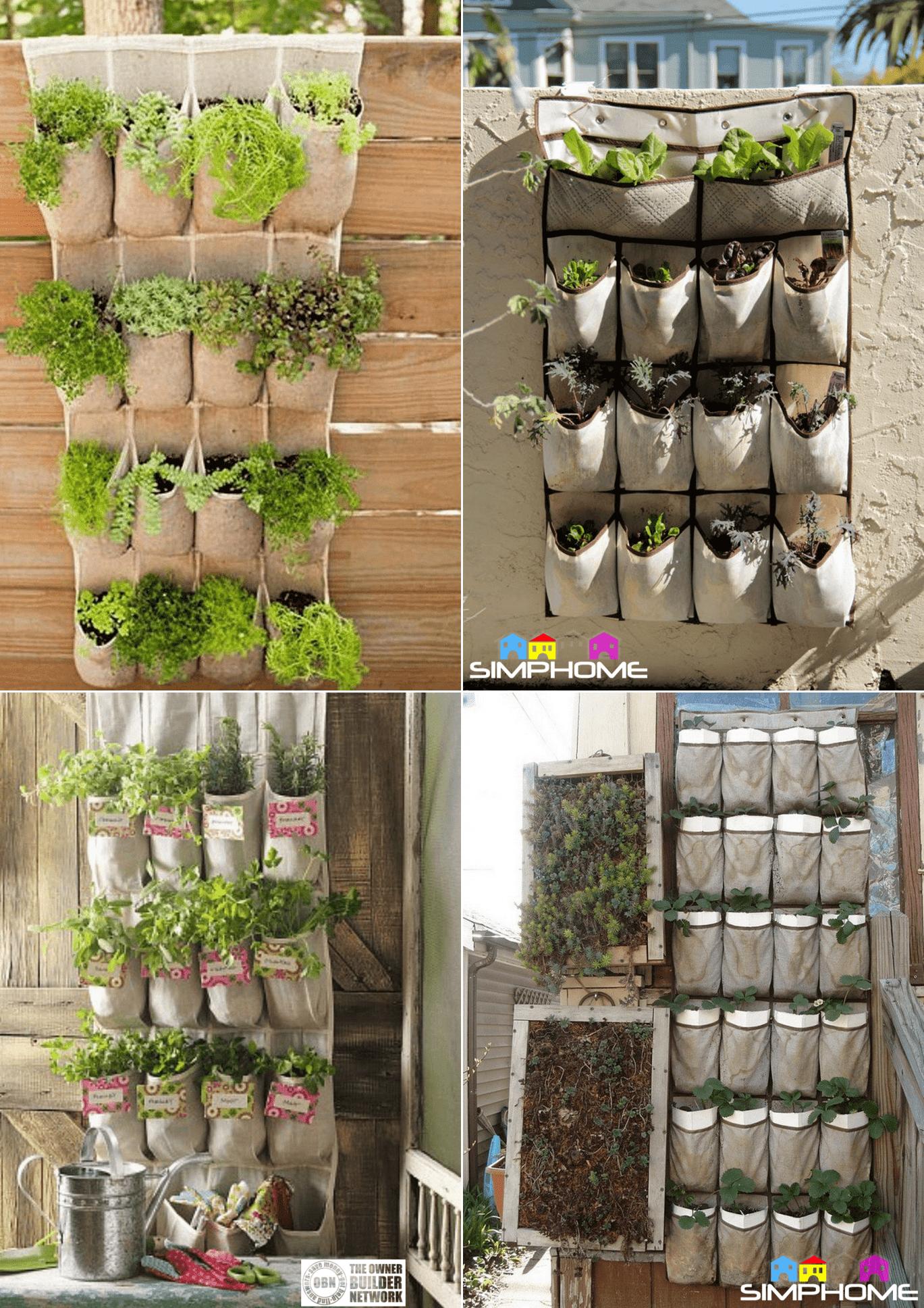 6.Shoe Organizer Vegetable Garden Projects via simphome.com