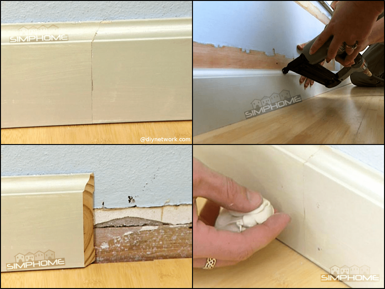 6.Simple Baseboard Molding via Simpome.com