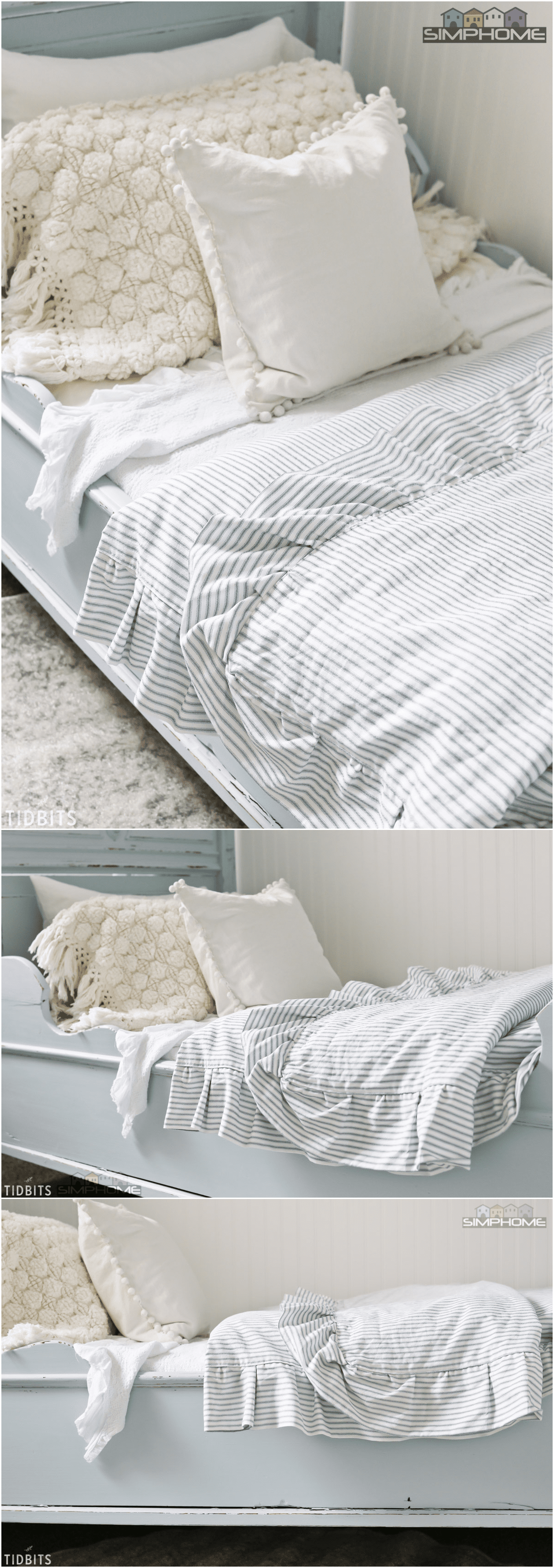 7.DIY Ruffled Duvet Cover via simphome.com