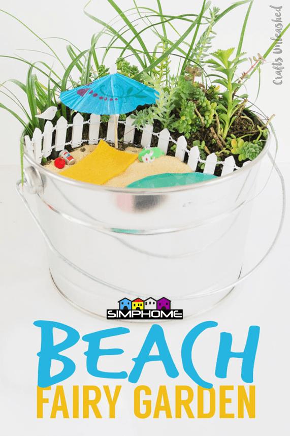 8.Beach Fairy Garden Project Idea via Simphome.com