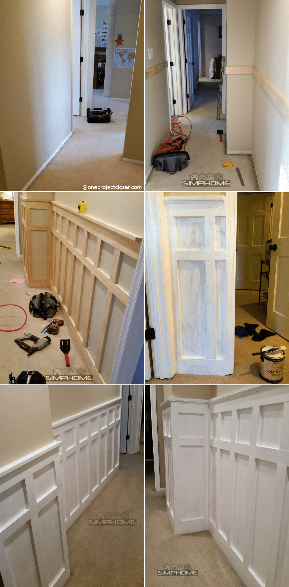 8.Board and Batten Wainscoting in the Bedroom via Simphome.com