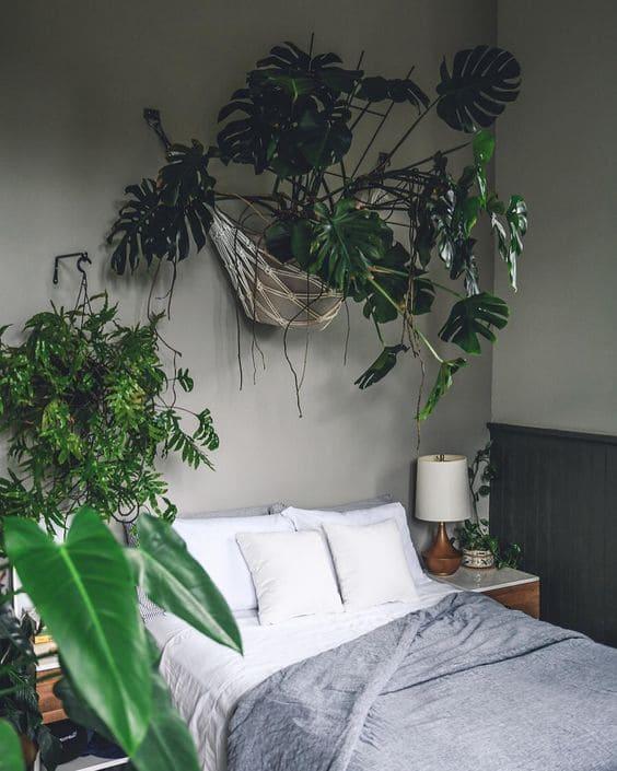 9.Indoor Garden for a Low Light Room inside bedroom via Simphome.com