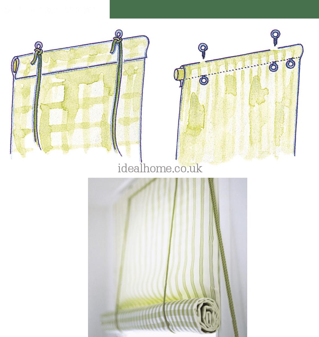 9.Rolling Window Blind DIY via Simphome.com