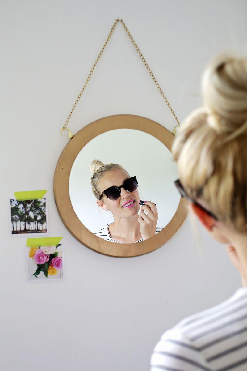 1.Circle Chain Mirror Finished via Simphome.com