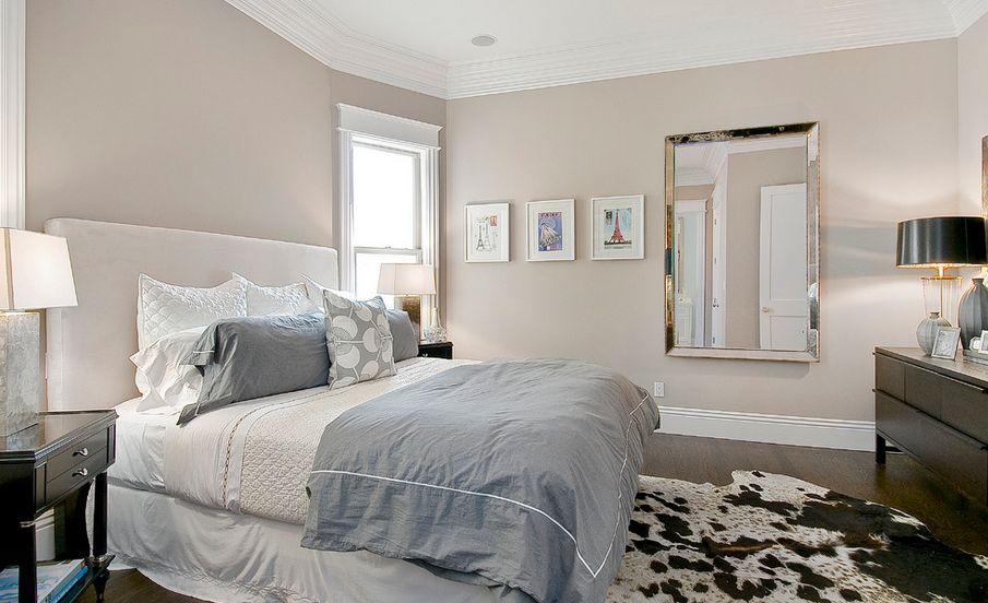 1.Soothing Taupe Bedroom Color Idea via Simphome.com