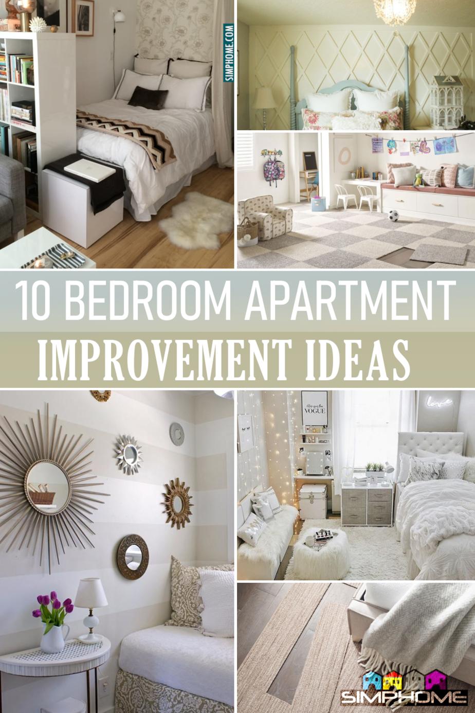 10 Bedroom Apartment Improvement Ideas Featured via Simphome.com
