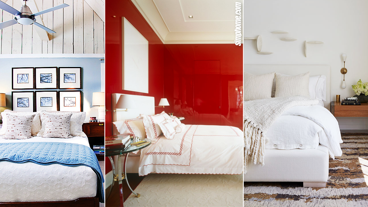10 Bedroom Color Combination Ideas via Simphome.com