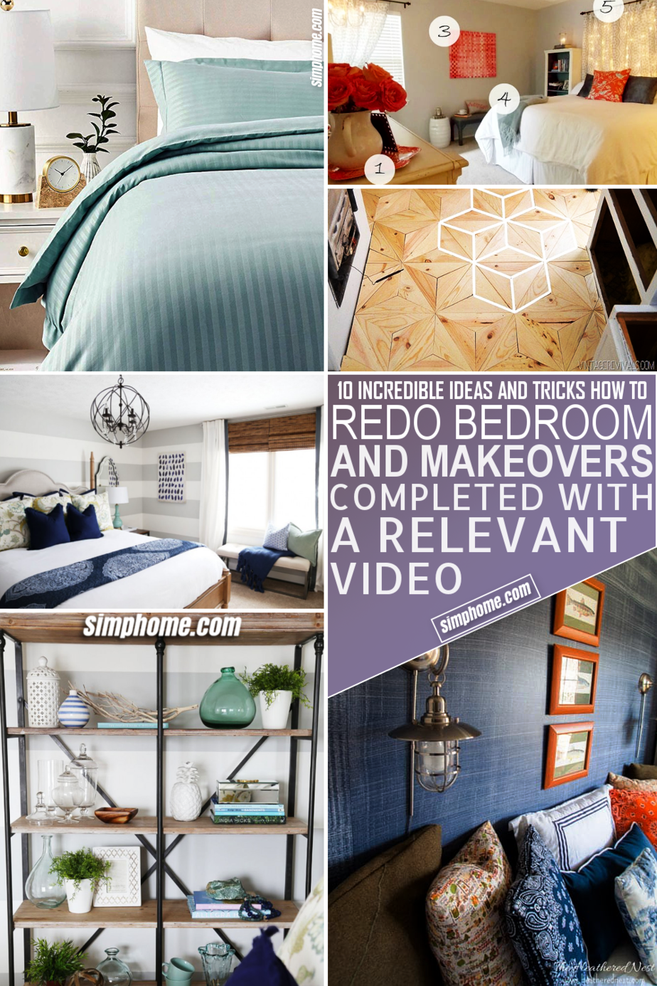 10 Bedroom Redo Ideas via Simphome.com Featured Image
