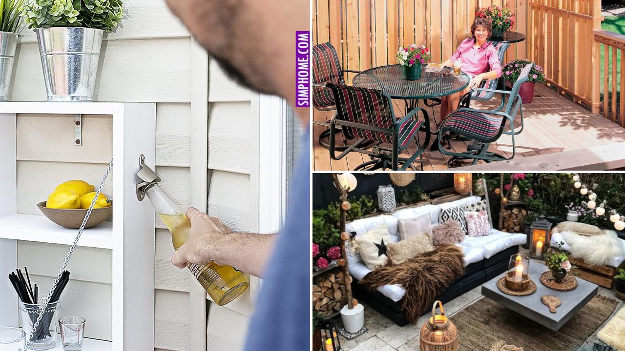 10 DIY Backyard MAKEOVER Ideas via Simphome.com Featured