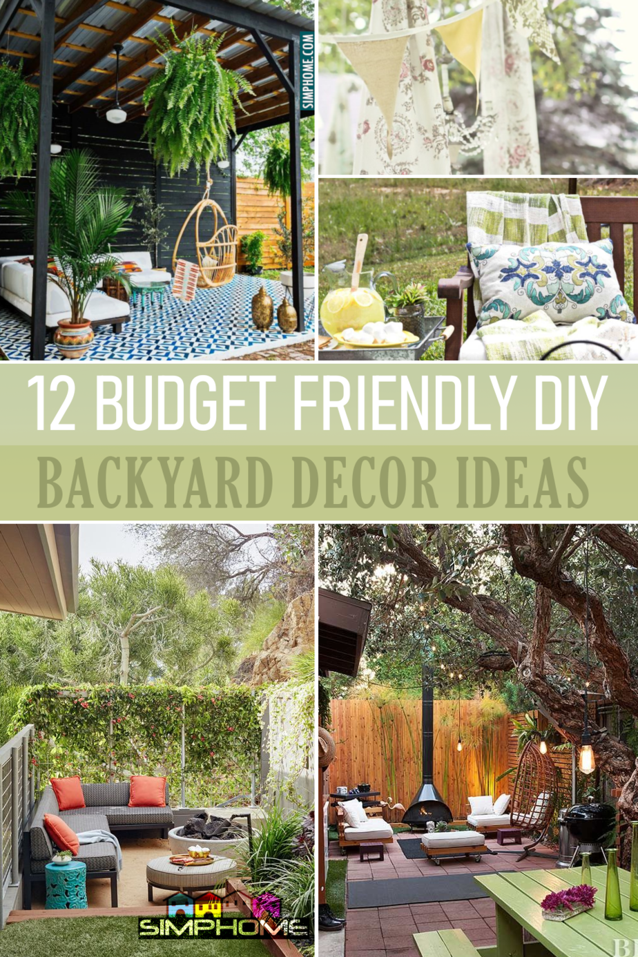 12 DIY backyard Decor Ideas via Simphome.com