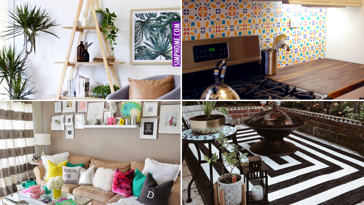 10 Home Decor Ideas and Organization Hacks for Renters via Simphome.com