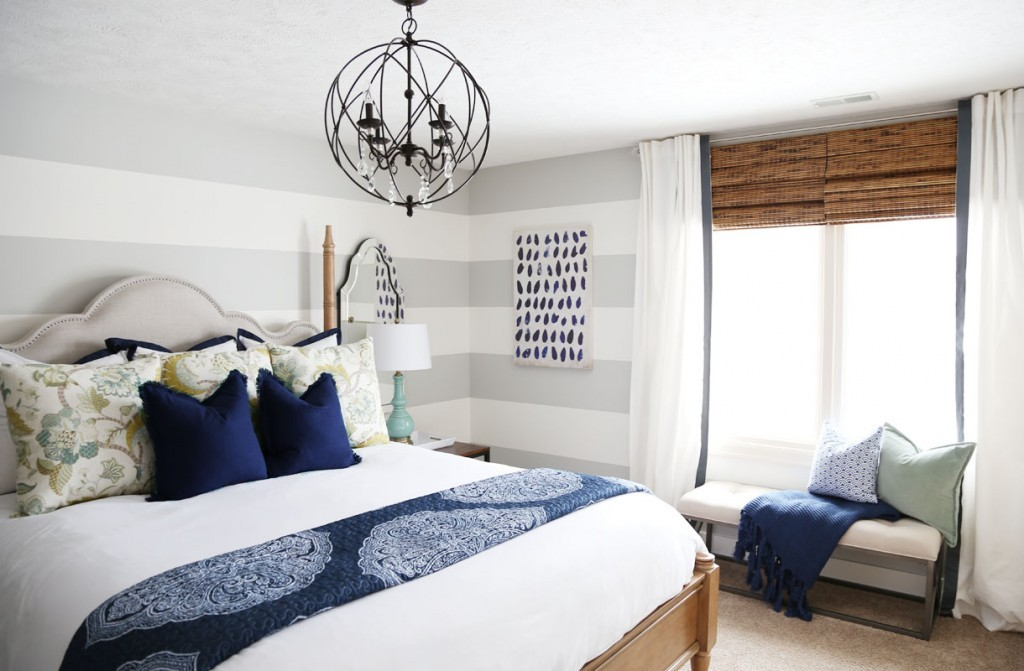 10.Guest Bedroom Makeover by Life On Virginia Street and Hayneedle After via Simphome.com