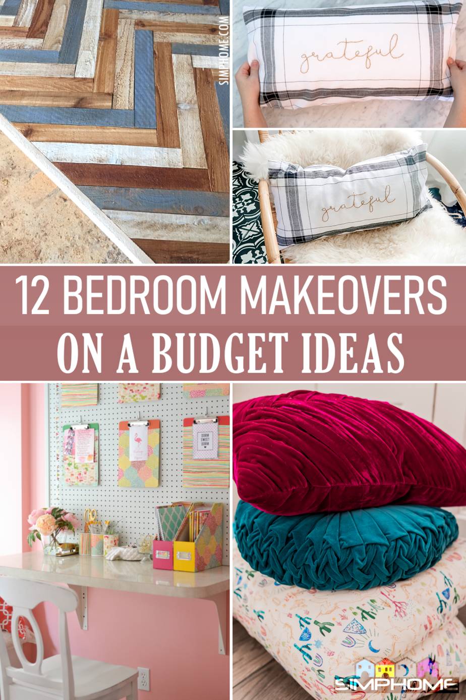 12 Bedroom Makeovers on a Budget Featured via Simphome.com