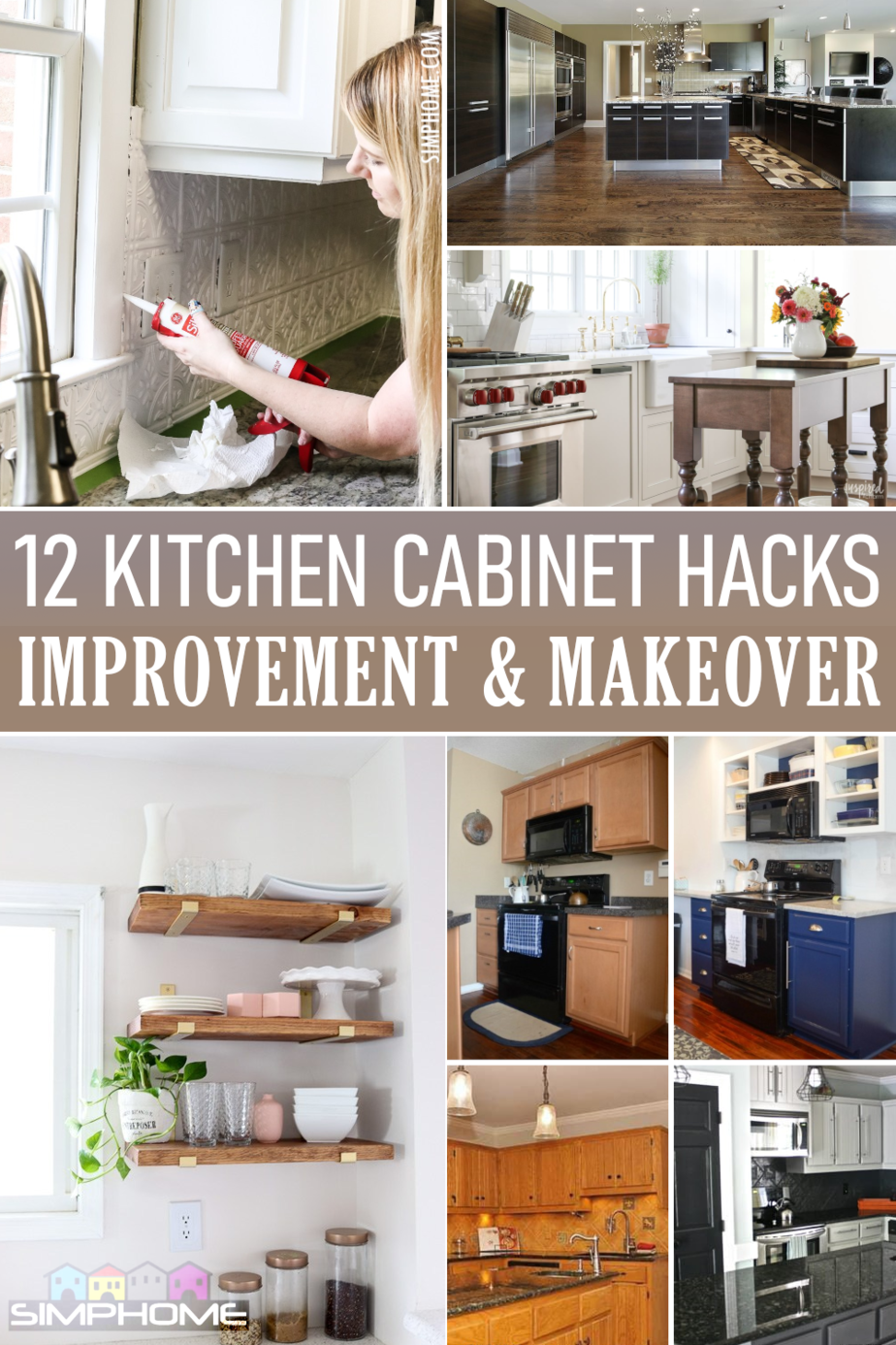 12 Kitchen Cabinet Makeovers Feataured via Simphome.com