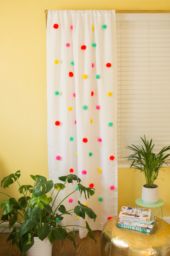 12.POMPOM YOUR CURTAINS via Simphome.com
