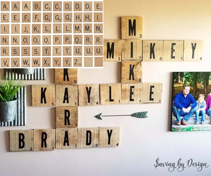 3.Brighten your Walls with Scrabble Tiles via Simphome.com
