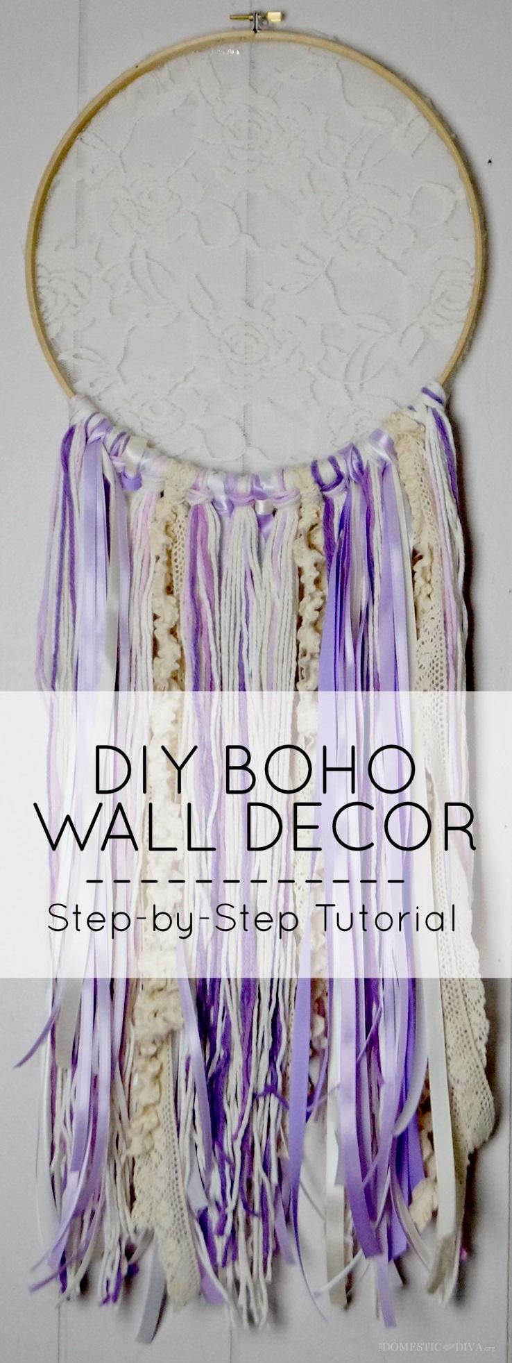 3.DIY boho walldecor dream catchertutorial via Simphome.com