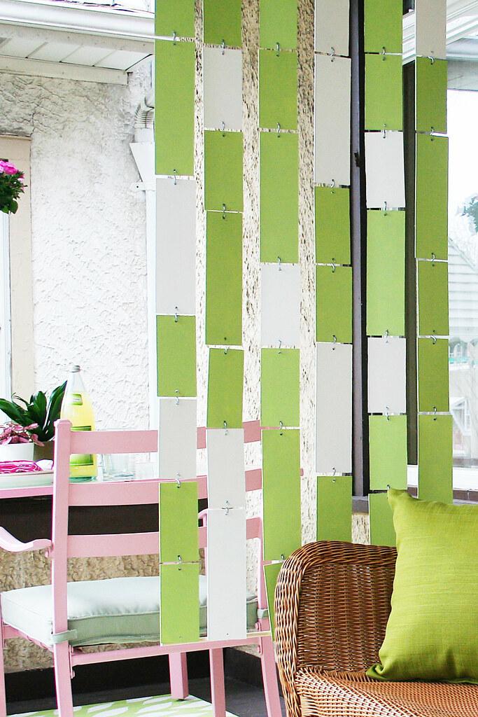 4.Hanging Wood Panel Room Divider Idea via simphome.com
