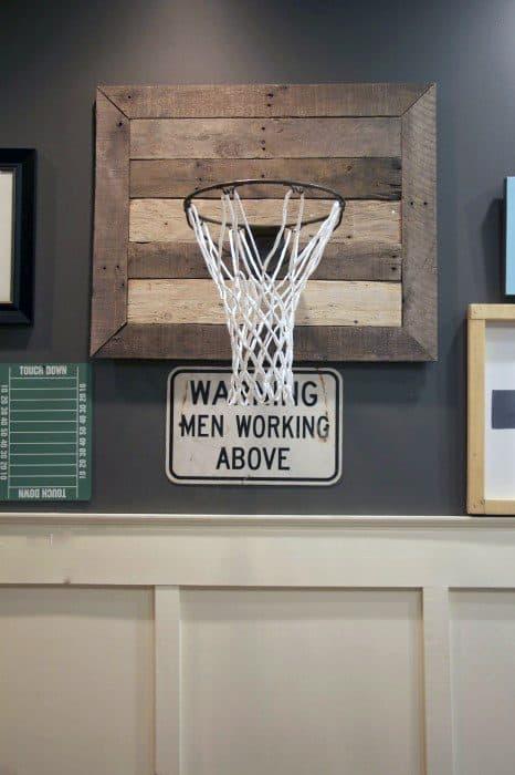 4.basketball hoop diy man cave ideas