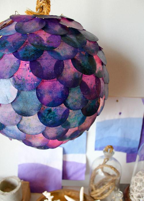 6.DIY Kara Fish Scale Pendant Light via Simphome.com