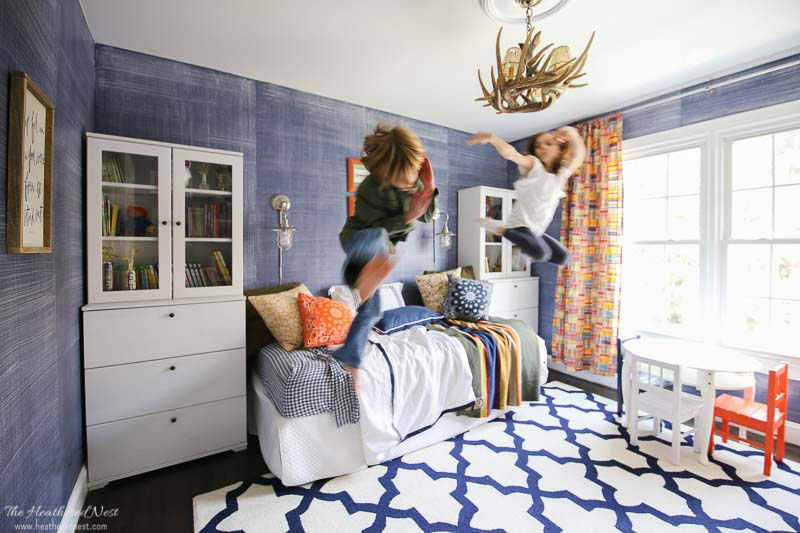 7.Denim faux finish for walls GREAT idea to add texture and interest landscape view via Simphome.com