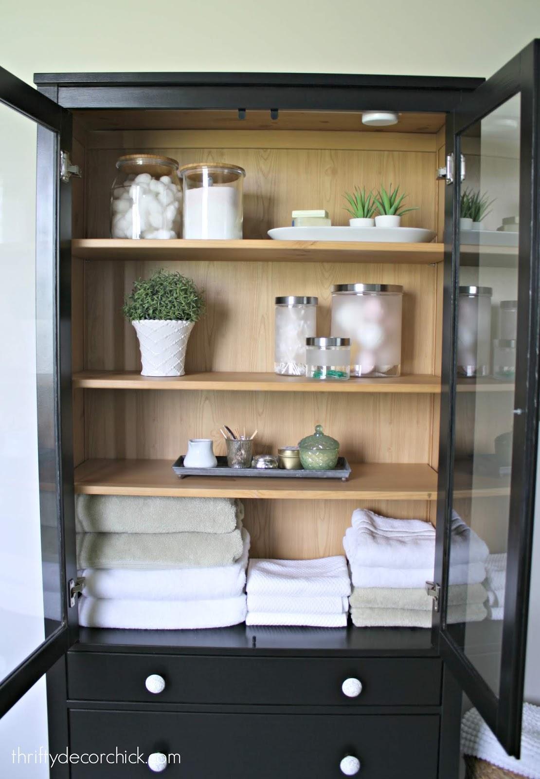 8.two tone furniture makeover bathroom by Simphome.com