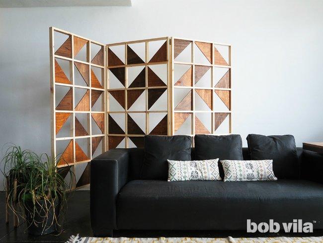 9. Geometric Bedroom Partition Ideas landscape via Simphome.com
