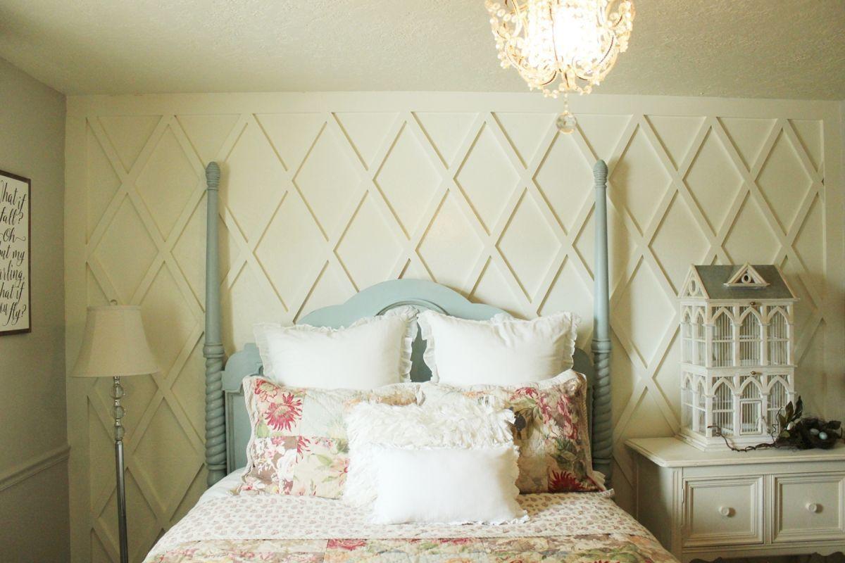9.How to decorate a master bedroom make walls interesting Simphome.com