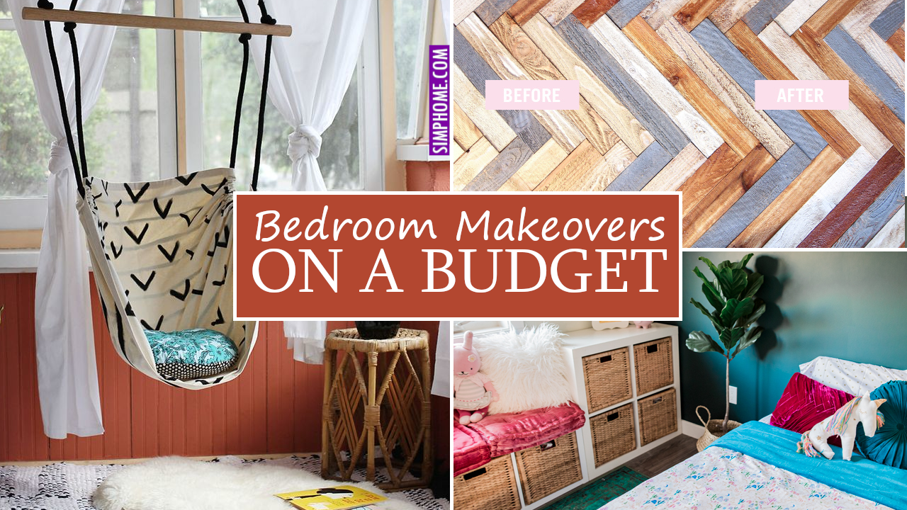 Bedroom Makeovers on a Budget via Simphome.com