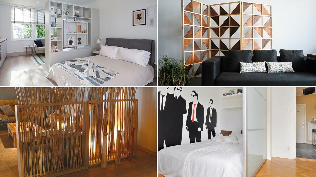 Bedroom Partition Ideas via Simphome.com