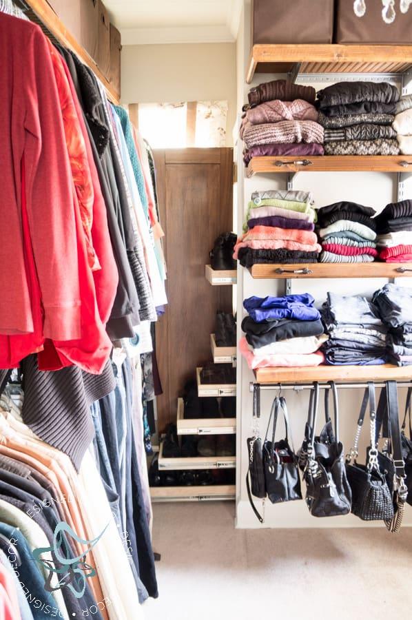 1. Shoe Closet Solution by Building your own Pullout Shelves by simphome.com