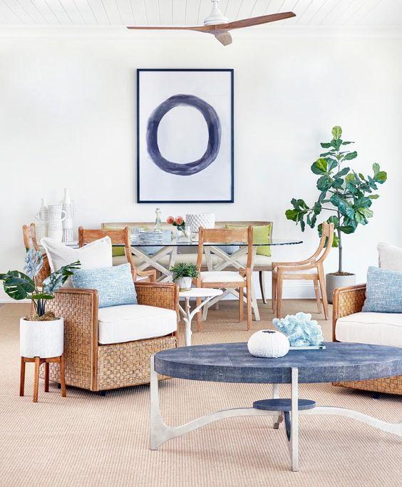 1.A Bench and a Chair Blue tint via Simphome.com