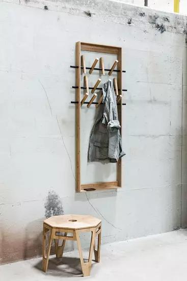 1.Simple but Smart Coat Rack By Simphome.com