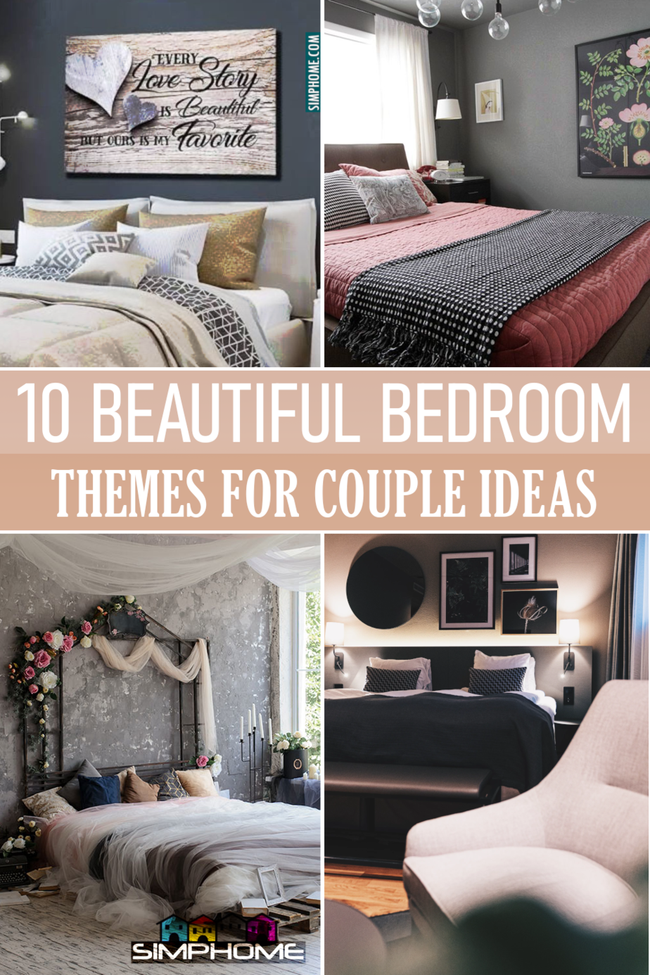 10 Beautiful themes for bedroom ideas via Simphome.com