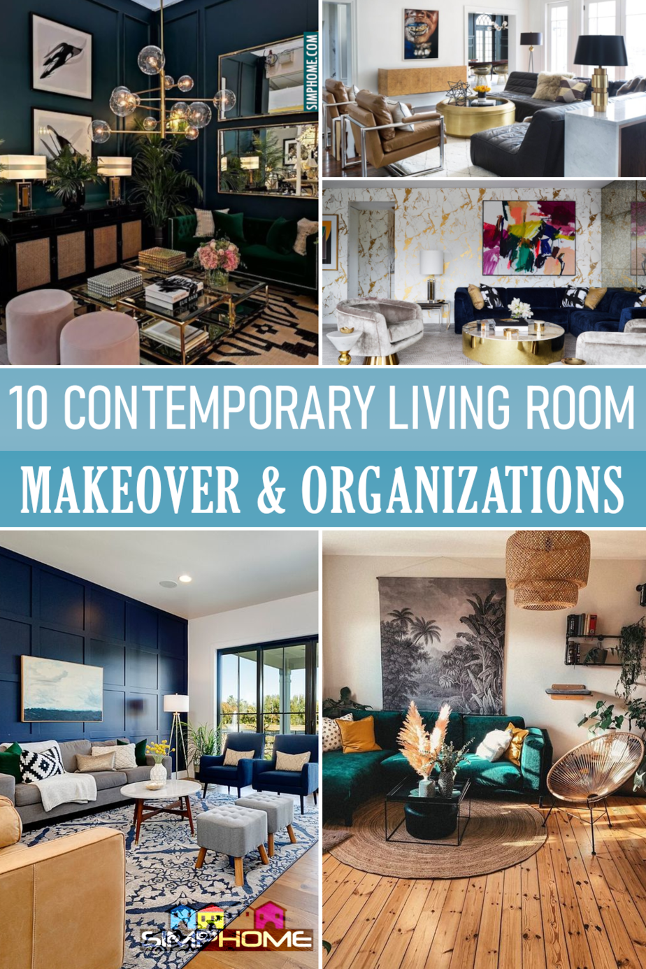 10 Contemporary Living Room Ideas Featured at Simphome.com