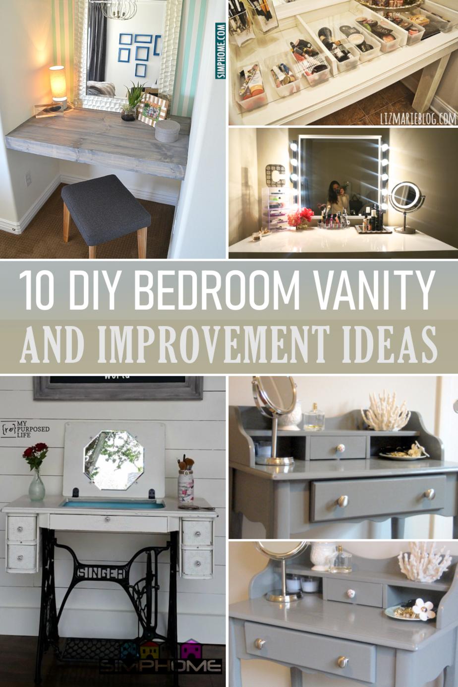 10 DIY Bedroom Vanity Makeover Featured Ideas via Simphome.com